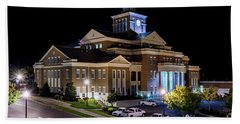 Municipal Center At Night - North Augusta Sc Beach Towel