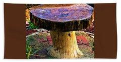 Mushroom Table Beach Towel