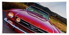 Mustang Convertible Beach Sheet