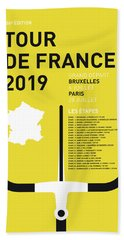 My Tour De France Minimal Poster 2019 Beach Towel