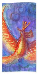 Mystical Phoenix Beach Sheet