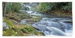 Beach Towel featuring the photograph Nantahala Fall Flow by David R Robinson