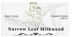 Narrow Leaf Milkweed Beach Towel
