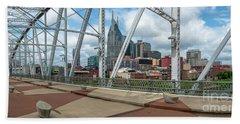 Nashville Cityscape From The Bridge Beach Sheet
