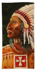 Native American Indian Chief Beach Sheet