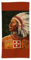 Native American Indian Chief Beach Towel