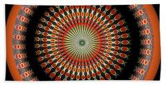 Beach Towel featuring the digital art Native American Sun Two by Visual Artist Frank Bonilla
