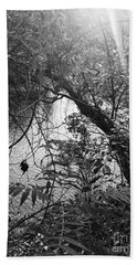 Beach Towel featuring the photograph Naturescape Black And White by Rachel Hannah
