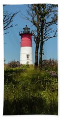 Nauset Lighthouse On The 4th Of July Beach Towel