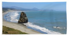 Beach Towel featuring the photograph Needle Rock 1, Cape Blanco, Oregon by Dawn Richards
