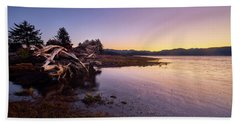 Beach Towel featuring the photograph Nehalem Bay Sunrise by Whitney Goodey