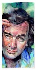 Neil Diamond Portrait I Beach Towel