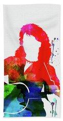 Neil Diamond Watercolor Beach Towel