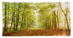 Neither Summer Nor Winter But Autumn Light Beach Sheet