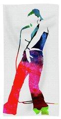 Nelly Furtado Watercolor Beach Towel