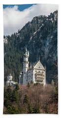 Neuschwanstein Castle On The Hill 2 Beach Towel