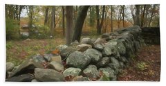 New England Stone Wall 1 Beach Towel