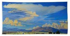 New Mexico Cloud Patterns Beach Sheet