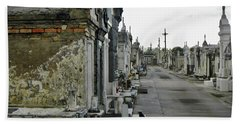 Beach Towel featuring the photograph New Orleans Cemetery by Rosanne Licciardi