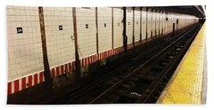 New York City Subway Line Beach Towel