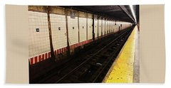 New York City Subway Line Beach Towel