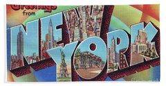 New York Greetings - Version 2 Beach Sheet