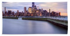 Beach Towel featuring the photograph New York Skyline by Jacqui Boonstra