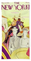 New Yorker March 9th 1946 Beach Towel