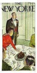 New Yorker November 27th 1943 Beach Towel