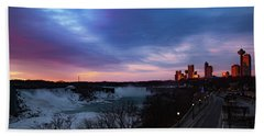 Niagara Falls At Sunrise Beach Towel