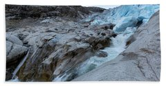 Beach Towel featuring the photograph Nigardsbreen, Norway by Andreas Levi