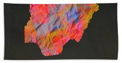 Nigeria Tie Dye Country Map Beach Towel