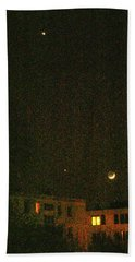 Beach Towel featuring the photograph Night Lights by Attila Meszlenyi