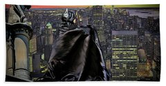Night Of The Bat Man Beach Towel