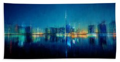 Night Of The City Beach Towel