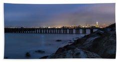 Night Pier- Beach Sheet