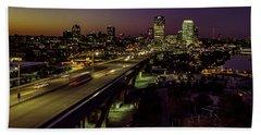 Beach Sheet featuring the photograph Nightfall In Milwaukee by Randy Scherkenbach