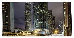 Nights Of Hong Kong Beach Towel