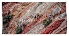 Nimble Mountain Goats 5694 Beach Towel