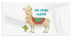 No Prob Llama - Baby Room Nursery Art Poster Print Beach Towel