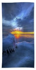 Beach Towel featuring the photograph No Winter Skips Its Turn. by Phil Koch