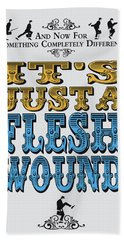 No02 My Silly Quote Poster Beach Towel