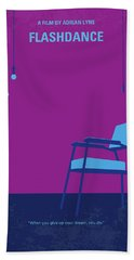 No1002 My Flashdance Minimal Movie Poster Beach Towel