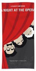 No1053 My A Night At The Opera Minimal Movie Poster Beach Towel