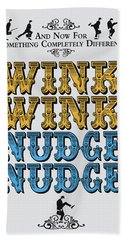 No18 My Silly Quote Poster Beach Towel
