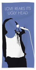 No238 My Living Color Minimal Music Poster Beach Towel
