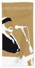 No290 My Willie Nelson Minimal Music Poster Beach Towel