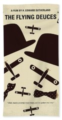 No983 My The Flying Deuces Minimal Movie Poster Beach Towel