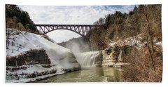 Winter At Letchworth State Park Beach Sheet