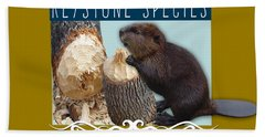 North American Beaver Beach Towel